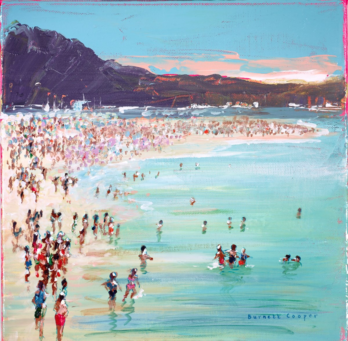 Beach Escapades by hilary burnett cooper -  sized 12x12 inches. Available from Whitewall Galleries